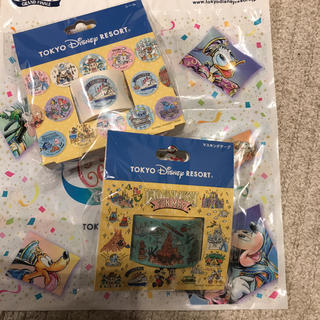 Disney - 2点セット♡新作 ディズニー☆ファンマップ 手書き風 マスキングテープ シール