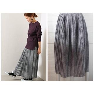 ZARA - プリーツ ラメ スカート シルバー 銀色