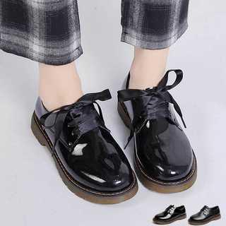 オックスフォードシューズ*ブラックエナメル*新品*送料込み(ローファー/革靴)
