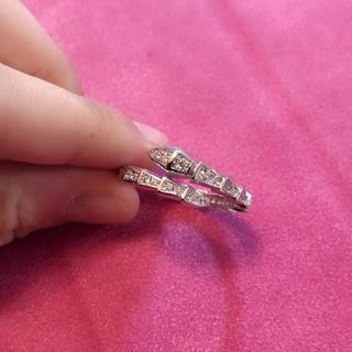 ブルガリ(BVLGARI)のダイヤ リング 蛇 メンズ デザイン(リング(指輪))