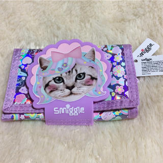 smiggle 三つ折り財布 ネコ(財布)