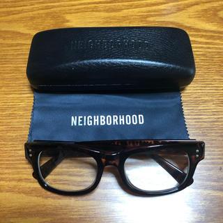 ネイバーフッド(NEIGHBORHOOD)の【美品】ネイバーフッド メガネ+メガネケース(度なし)(サングラス/メガネ)