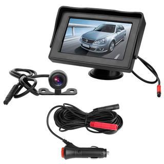 4.3インチ モニター バックカメラ オンダッシュ 映像2系統入力 12v(車内アクセサリ)