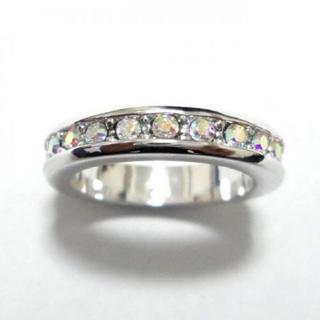 10号 スワロフスキー フルエタニティ オーロラクリア シルバーリング(リング(指輪))