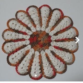 ハンドメイド 手編み 小物 オールドオレンジ(インテリア雑貨)