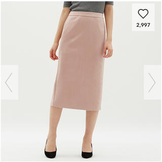 GU - ジーユー gu GU スエードタッチタイトミディスカート スエード スカート