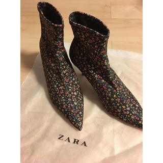 ザラ(ZARA)のZARA ストレッチブーツ 37(ブーツ)
