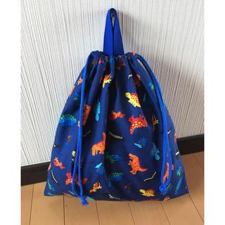 いちご様  かわいい恐竜 体操着袋 、コップ入れハンドメイド(体操着入れ)