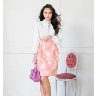 チェスティ(Chesty)のchestyジャガードスカート サイズ1(ひざ丈スカート)