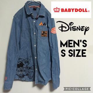 ディズニー(Disney)のディズニー ベビードール メンズS デニムシャツ ミッキー コラボレーション(シャツ)