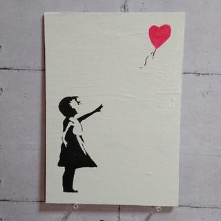 バンクシー ウッドボード 風船と少女