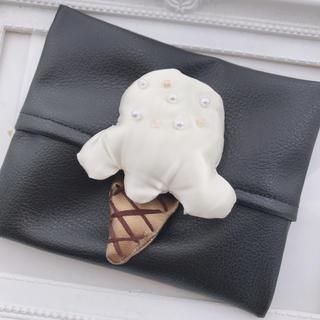 アイスクリーム ポケットティッシュケース♡ハンドメイド(雑貨)