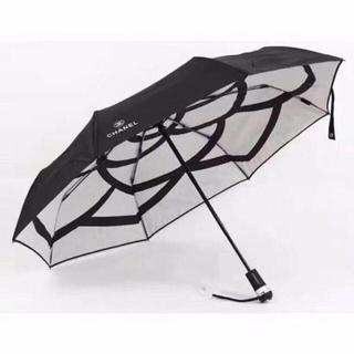 CHANELロゴ 折りたたみ傘(傘)