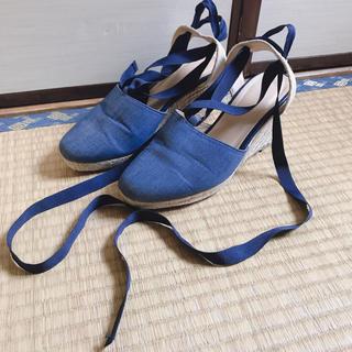 ジーユー(GU)のデニム 靴 パンプス ハイヒール GU(ハイヒール/パンプス)