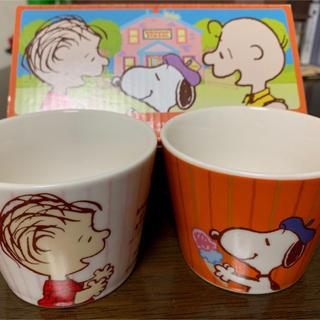スヌーピー(SNOOPY)のスヌーピー ニッセイ 日本生命 陶磁器製ミニカップ2個セット(グラス/カップ)