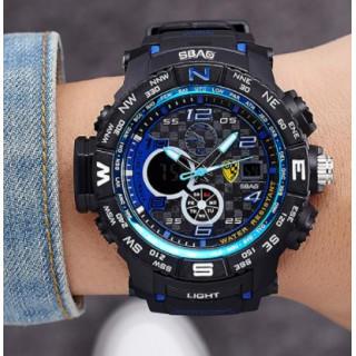 新品 送料込み 2018☆デュアルディスプレイ☆メンズデジタル腕時計(腕時計(アナログ))
