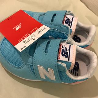 ニューバランス(New Balance)の14.5cm 新品未使用 ニューバランス   値下げ 女の子 ブルー 子供靴(スニーカー)