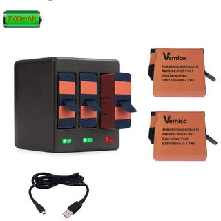 GoPro - vemico GoPro バッテリー2個セット