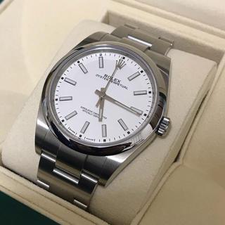 ロレックス(ROLEX)の2018新色 ロレックス  オイスターパーペチュアル39 ホワイト 114300(腕時計(アナログ))