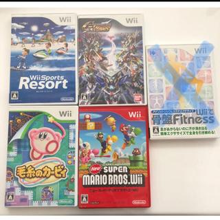 ウィー(Wii)の毛糸のカービィ・ニュースーパーマリオブラザーズ他Wiiソフト計5本(家庭用ゲームソフト)
