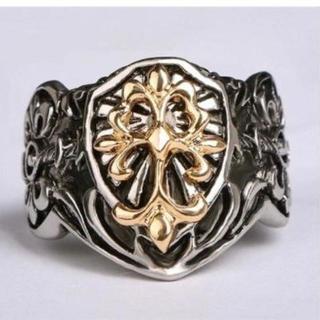 ゴールド & シルバー カラー リング ユリ フレア 指輪(リング(指輪))