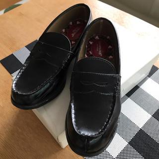 ローファー☆ミッキー ☆黒  ☆23.5EE  中古(ローファー/革靴)
