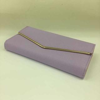 レディース 長財布 フロントゴールドフレーム パープル(財布)