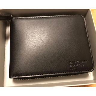 マーガレットハウエル(MARGARET HOWELL)の二つ折り財布 Margaret Howell idea ブラック 新品(財布)