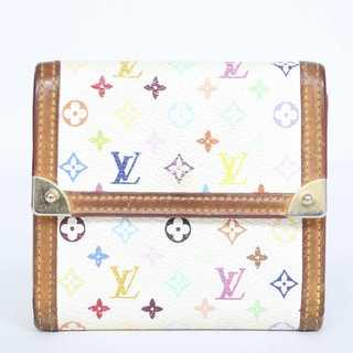 ルイヴィトン(LOUIS VUITTON)の交渉歓迎 本物  ルイ ヴィトン マルチカラー Wホック財布(財布)