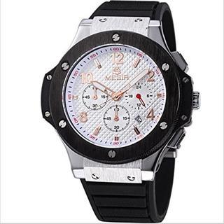 クロノグラフ レーシングウォッチ Black&White[文字色:Gold](腕時計(アナログ))