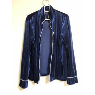 ジーユー(GU)の☆GU ジーユー レディースベロア長袖長ズボンパジャマ ルームウェア XL(パジャマ)