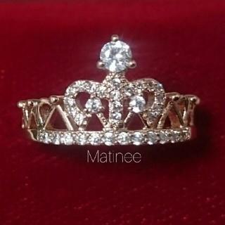 9.5号●SALE● 新品  高品質 CZ ダイヤモンド クラウン リング 指輪(リング(指輪))