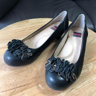 本革ローヒールパンプス(ローファー/革靴)