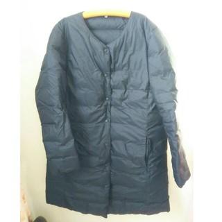 ムジルシリョウヒン(MUJI (無印良品))の無印良品 フレンチダウンポケッタブルコート 黒 XLサイズ(ダウンコート)