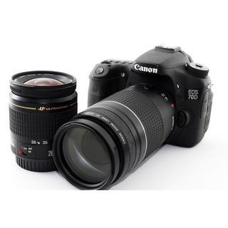 キヤノン(Canon)のWi-Fiでスマホへ転送♪Canon 70D ダブルズームセット♪(デジタル一眼)