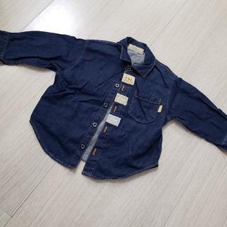 BeBe - #80#べべ#ダンガリーシャツ#デニ厶