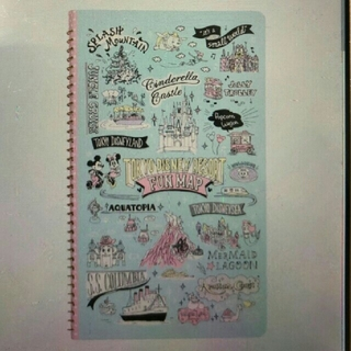 Disney - ディズニー マップ柄手描き風シリーズ 縦型リングノート♪
