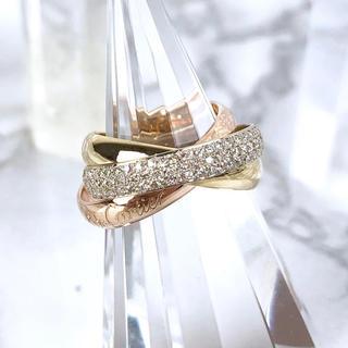 カルティエ(Cartier)の【仕上済】カルティエ トリニティリング ダイヤ 9号 レディース 指輪 リング(リング(指輪))