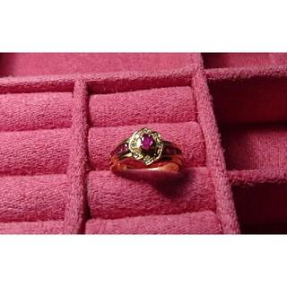 【K18】【ルビー】【ダイヤモンド】【リング】【9号】(リング(指輪))
