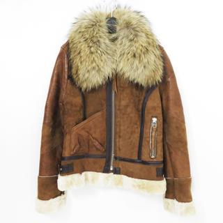 アヴィレックス(AVIREX)のAVIREX アヴィレックス B-3 リアル ムートン レザー ジャケット 羊革(毛皮/ファーコート)