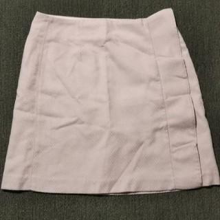 ジーユー(GU)のGU フリルスカート ベージュ(ひざ丈スカート)