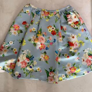チェスティ(Chesty)のchesty  ブルーバード フラワー スカート 新品未使用 タグ付き(ひざ丈スカート)