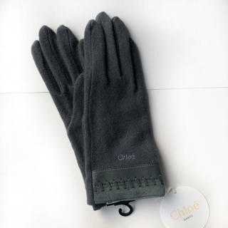 クロエ(Chloe)の【新品】Chloe クロエ 高級手袋 革素材 デザインが可愛い‼︎お値打ち!(手袋)