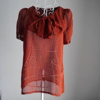 クリアクレア(clear crea)のclear crea エンジシースルーブラウス(Tシャツ(半袖/袖なし))