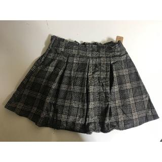 新品■大きいサイズ3L■チェックキュロットスカート■チェック小(キュロット)