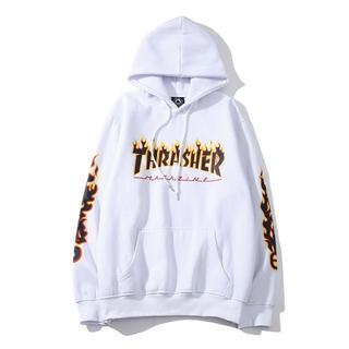 スラッシャー(THRASHER)のTHRASHER パーカー 長袖 スウェット プルオーバー ホワイト XXL(パーカー)