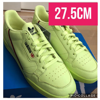 アディダス(adidas)の27.5cm adidas CONTINENTAL 80 イエロー(スニーカー)