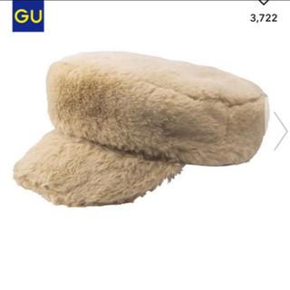 ジーユー(GU)のGU ファー帽子 新品(キャスケット)
