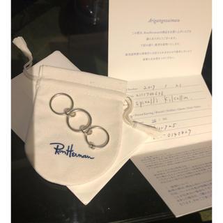 ロンハーマン(Ron Herman)のスピネリキルコリン 三連 リング ロンハーマン購入 美品(リング(指輪))