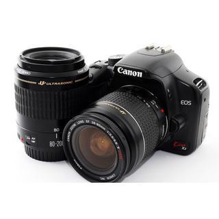 キヤノン(Canon)のCanon Kiss X2 ダブルズームセット☆SDカードおまけ(デジタル一眼)
